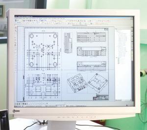 CAD-Zeichnung, Konstruktion, Quelle: SChmidt Gesellschaft für Werkzeug- und Formentechnik mbH